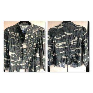 Miss Me Army Camo print shirt top Jacket~NWT